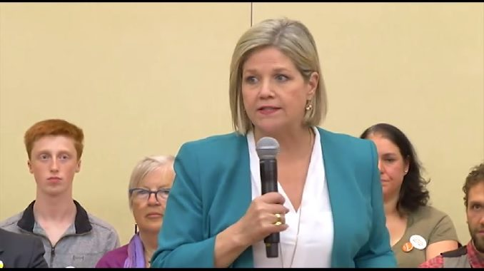 Andrea Horwath and the NDP could win Ontario according to the latest polls.