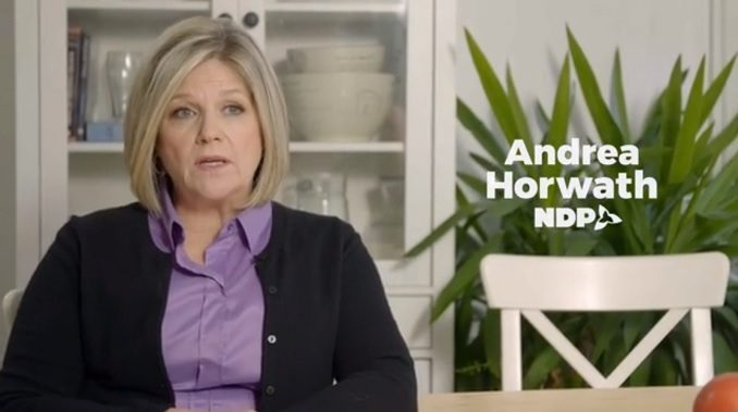 Andrea Horwath won't condemn a candidate that accused Canadian soldiers of war crimes.