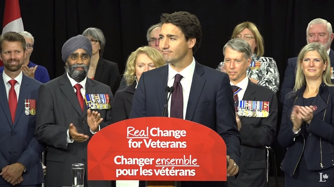 Justin Trudeau promises veterans they won't have to fight the government in court